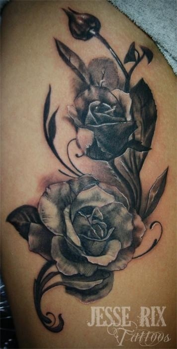 like the shading around the roses and the roses themselves back side piece pinterest. Black Bedroom Furniture Sets. Home Design Ideas