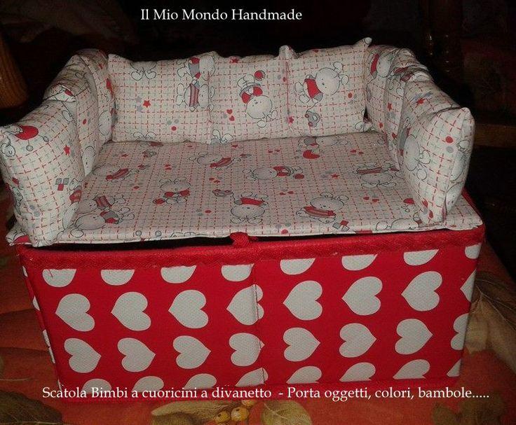 Scatola porta oggetti a divanetto per bimbe OFFERTONA A SOLI € 5.00