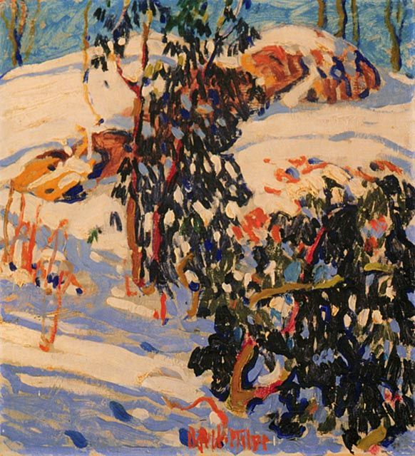 Distorted Tree by David B. Milne 1912 National Gallery