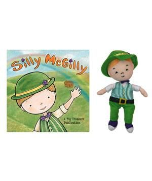 Silly McGilly Book and Doll: Start a new family tradition by inviting this mischievous leprechaun into your home.