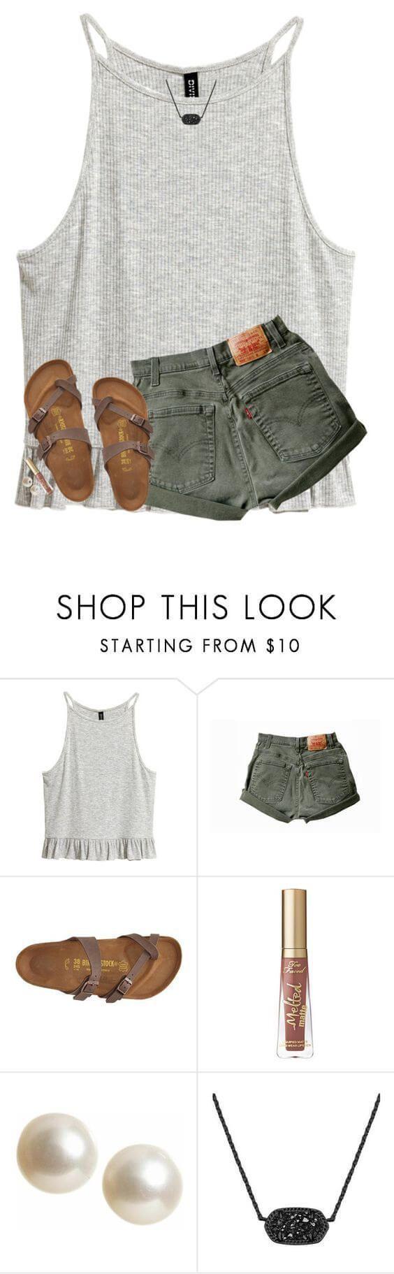 Idée et inspiration look d'été tendance 2017   Image   Description   27 Cool Jeans Short Outfits For This Summer