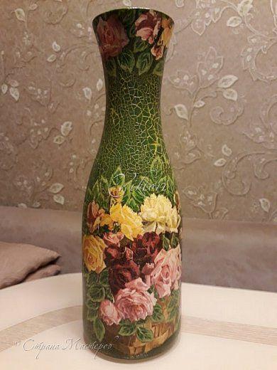 Добрый день Страна!  Выкладываю мастер-класс по изготовлению вазы из бутылки. фото 48