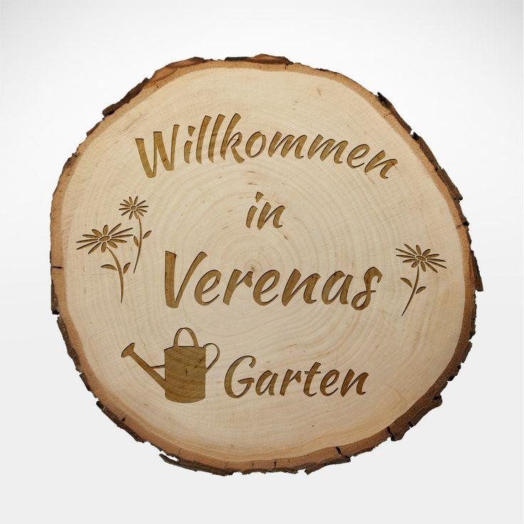Simple Ein Garten kann eine Oase sein Unsere personalisierte Baumscheibe Gravur f r den Garten ist ein