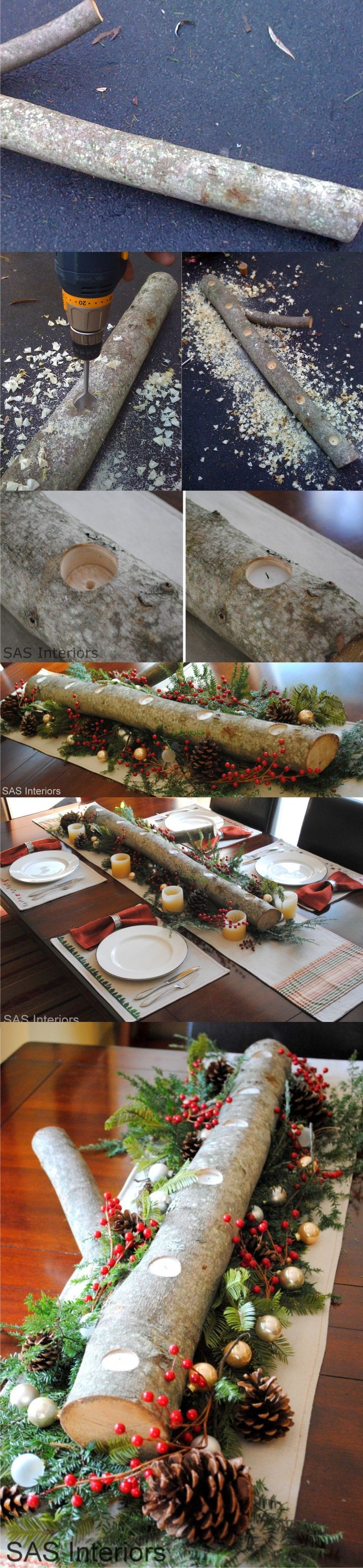 Centro de mesa para Navidad - jennaburger.com - Christmas table centerpiece