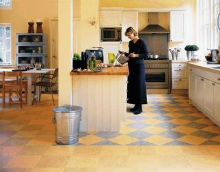 i like the uniformity of flooring in main living area and distinct pattern in smaller rooms & kitchen