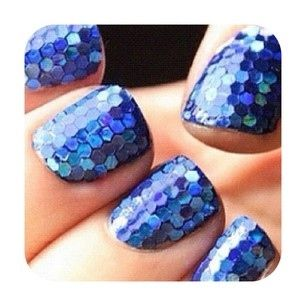 .: Mermaid Scale, Style, Nailart, Blue, Makeup, Mermaid Nails, Nail Design, Beauty, Nail Art