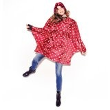 Poncho ruby dots- Staying dry for spring!
