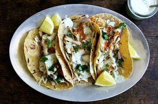 Great way to cook cod (tacos ok but saved for cod method. Good on stove too)