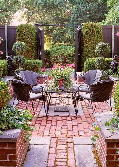 Paved garden backyard