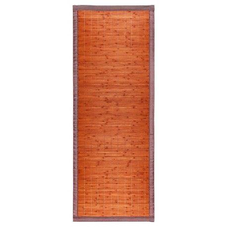Alfombra bambu 60x160 marrón oscuro tablitas