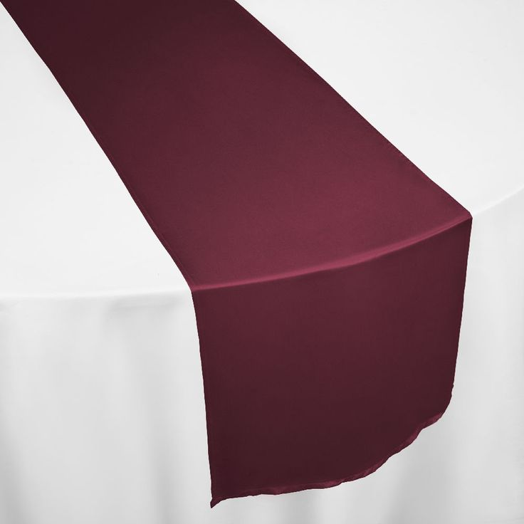 Burgundy Duchess Satin Table Runner By Chair Covers U0026 Linens