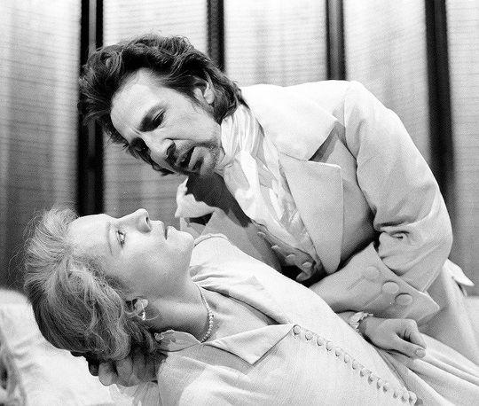 Alan Rickman and Juliet Stevenson in the play Les Liaisons Dangereuses [1985-1987] [c]