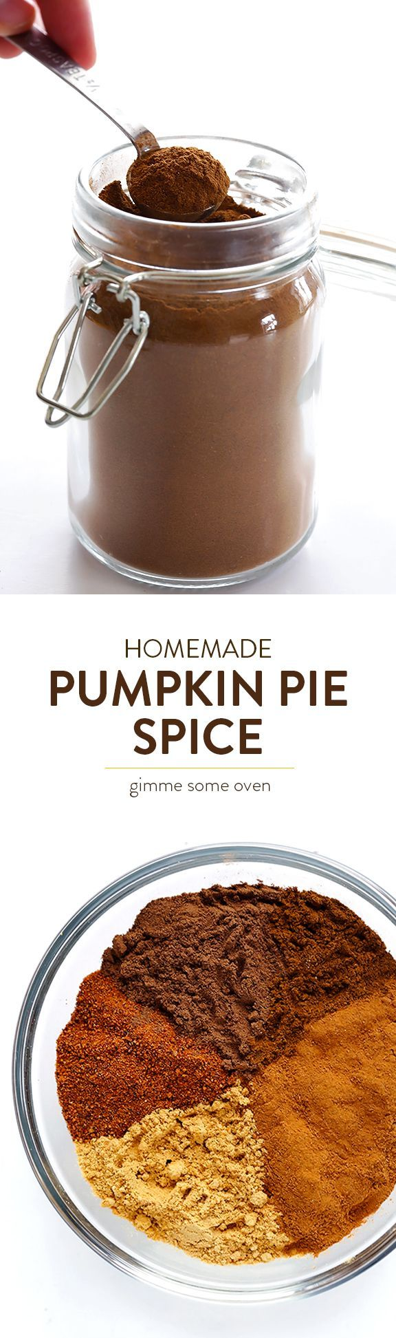 Learn how to make homemade Pumpkin Pie Spice with this quick and easy recipe! | http://gimmesomeoven.com
