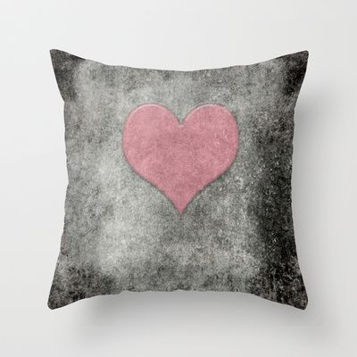 Valentines Grunge Love in Opal Pink Throw Pillow by Bruce Stanfield - $20.00