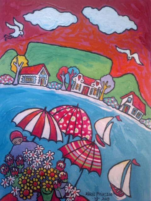 """""""Flowersellers"""" by Marie Prinsloo"""