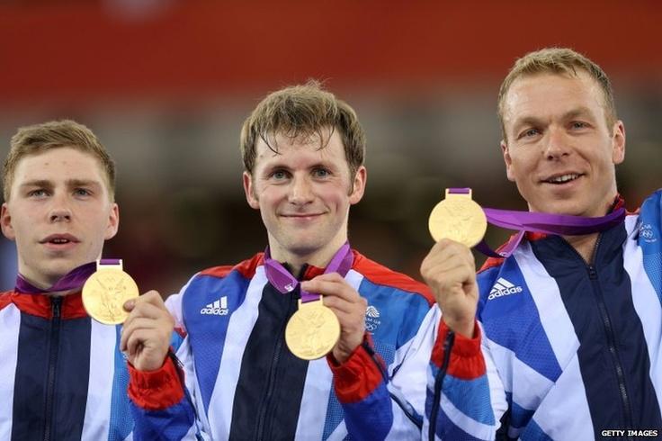 Philip Hindes, Jason Kenny and Sir Chris Hoy c Olympics