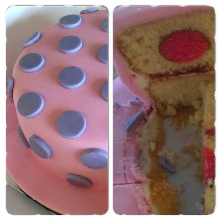 Spotty dotty cake inside and out
