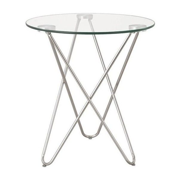Coaster Glass Top End Table (3.845 RUB) ❤ liked on Polyvore featuring home, furniture, tables, accent tables, silver, glass top end tables, glass accent table, glass furniture, glass table and glass lamp tables