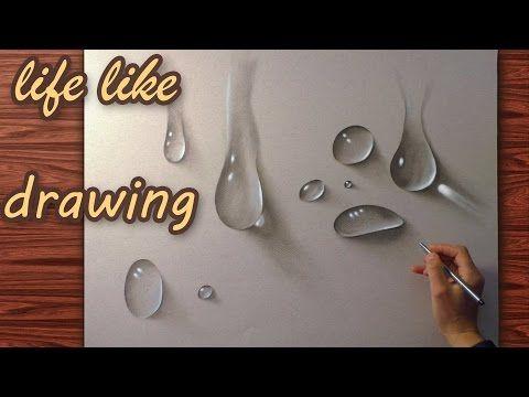 Wassertropfen realistisch gemalt/ zeichnung Wasser…