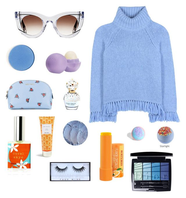 """""""Orange and blue"""" by mjjauniaux on Polyvore featuring mode, Thierry Lasry, Tory Burch, Eos, Miu Miu, Christian Dior, Marc Jacobs, Huda Beauty, Torrid et Berylune"""