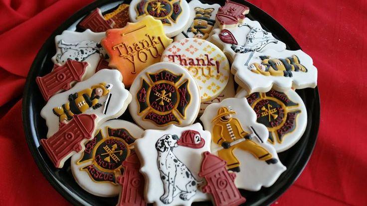 54 Best Firemen Cookies Cake Pops Images On Pinterest