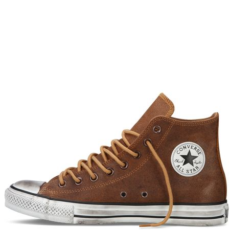 Size 5 Converse high-top or super-high tops.  (Size 5 is the men's size - that'll be the number on the sole of the shoe).  Colours I've already had:  neon orange, red, black, cream, yellow. So any other solid colour (e.g. brown, grey, blue, purple...)                                                      I've also had multi-coloured ones before but am always open to other patterned ones!