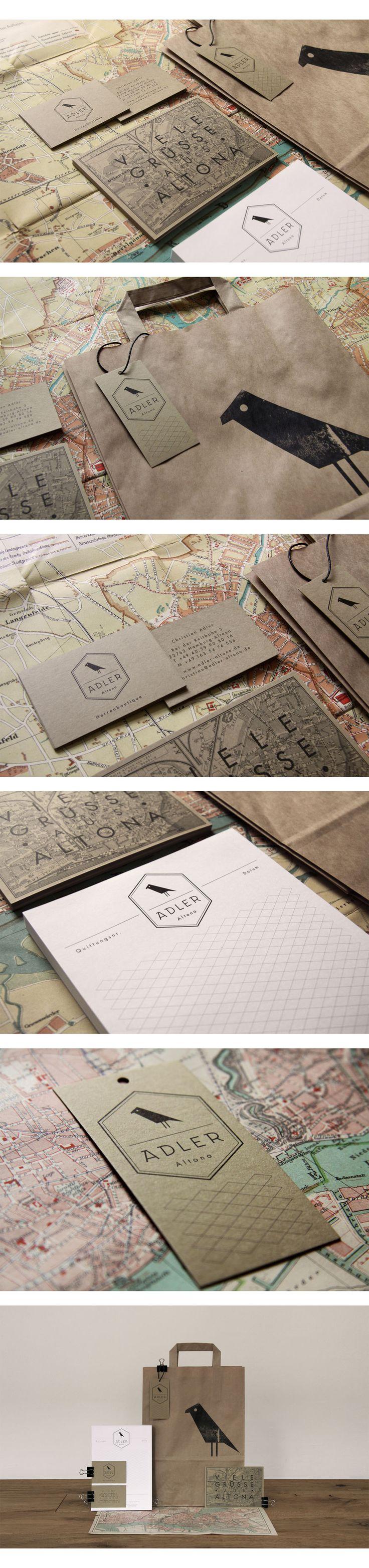 Adler Altona – Herrenboutique | #stationary #corporate #design #corporatedesign #identity #branding #marketing < repinned by www.BlickeDeeler.de | Take a look at www.LogoGestaltung-Hamburg.de