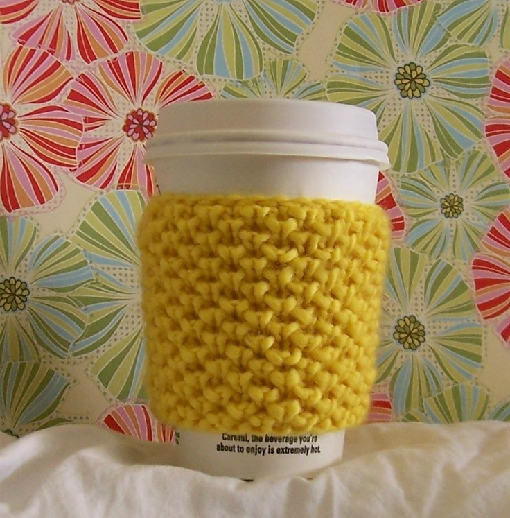 Knit Coffee Cup Sleeve Pattern