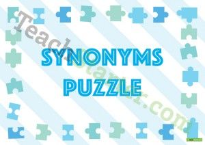 Synonyms Puzzle Activity