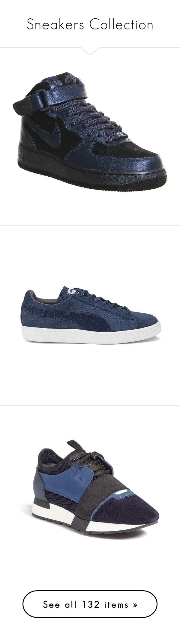 """""""Sneakers Collection"""" by tamara-40 ❤ liked on Polyvore featuring sneakers, 2015, shoes, laced shoes, cat sneakers, puma shoes, cat print shoes, lace up sneakers, tory navy en lace up shoes"""