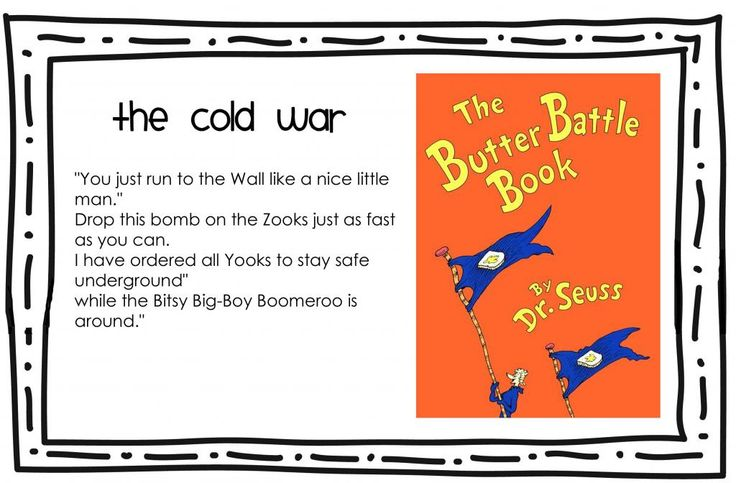 Cold War - Dr. Seuss in fifth grade? I think YES!
