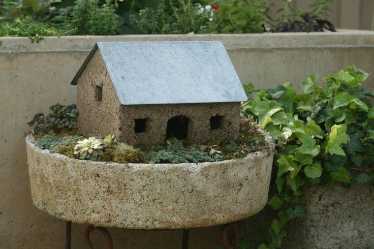 Hypertufa fairy house