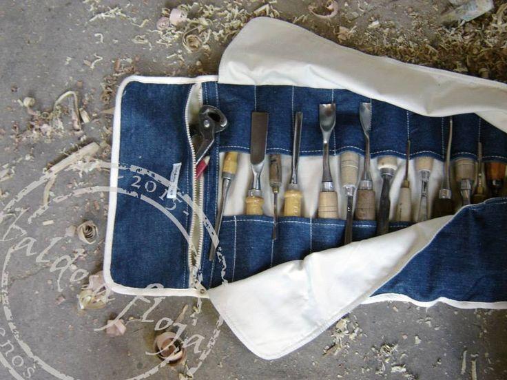 porta lápices y herramientas con cartuchera