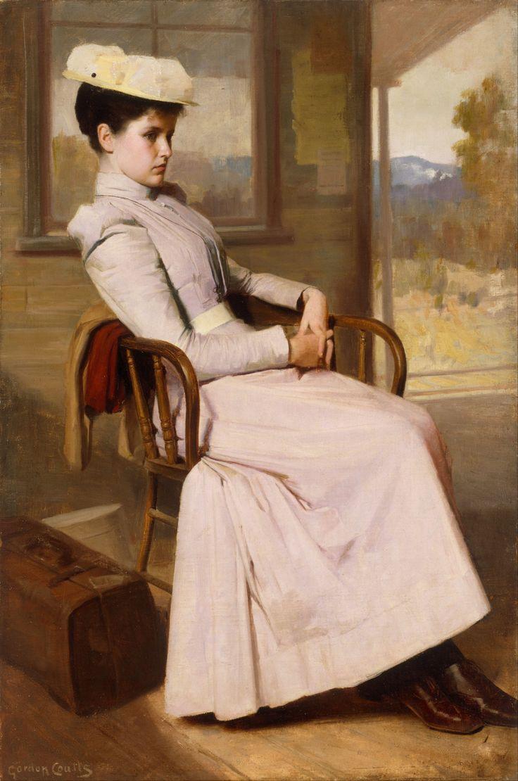 """Femme-де-Беллетристика: """"Большой (Wikimedia) Хотя это легко поверить, Художественная галерея Нового Южного Уэльса, когда они пишут о том, что модель Гордона Coutts ок 1895 г. Ожидание"""" позировала в студии, с фоном окрашены вокруг нее потом """" -не..."""