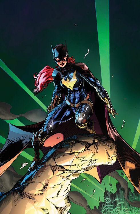 Batgirl  Colors by Josh J81  Original Lines by Brett Booth  Inked by Ryan Winn