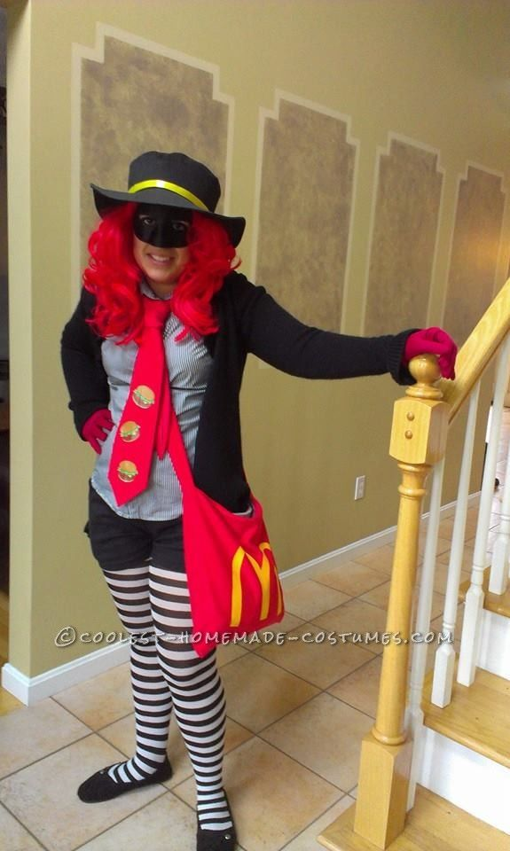 Best DIY McDonald's Hamburglar Costume for a Woman… Coolest Halloween Costume Contest