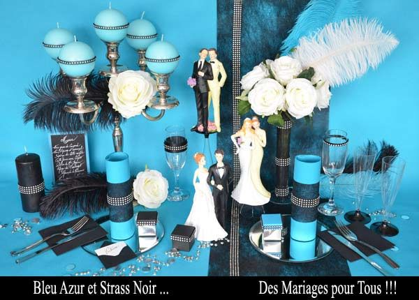 10 best th me cabaret bleu images on pinterest cabaret - Chemin de table gris perle ...