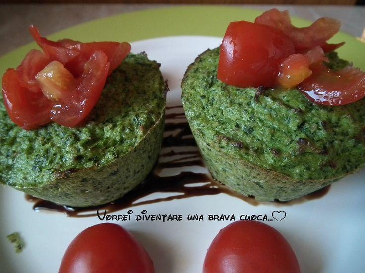 Tortini di broccoli e ricotta al forno | Vorrei diventare una brava cuoca....