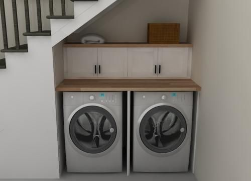 Good Washer Dryer In Kitchen #3 - Laundry Room Under Stairs