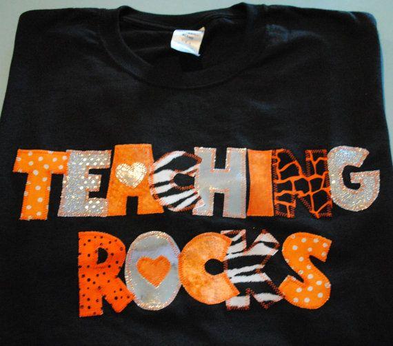 Love!: Teachers T Shirts, Bling Shirts, Teachers Rock, Rocks Bling, Gift Ideas, Rock Bling, School Ideas, Shirt Ideas