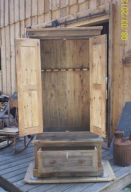 western barn wood houses | http://www.ncrustic.com/rustic-hickory-gun-cabinet.html