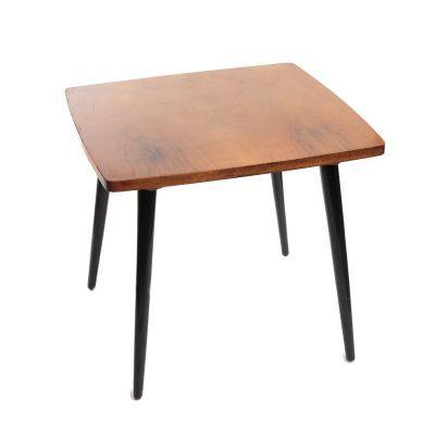 Stolik drewno 48 x 53,5 x 53,5 cm Bydgoskie Fabryki Mebli, 1962 r.