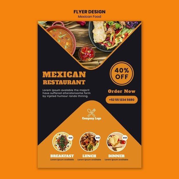 Free Food Flyer Templates Di 2020