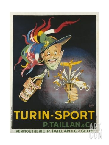 Turin-Sport Alcoholic Beverage Poster Giclee Print