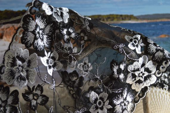 Black and silver floral design mirror edges by TheQuiltedCheese