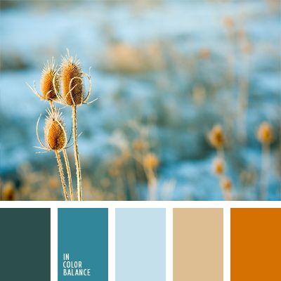 amarillo anaranjado, azul oscuro, celeste grisáceo, celeste oscuro, celeste vivo, combinación de colores, elección del color, marrón, naranja grisáceo, tonos anaranjados, tonos celestes, tonos marrones, tonos vivos y pasteles.