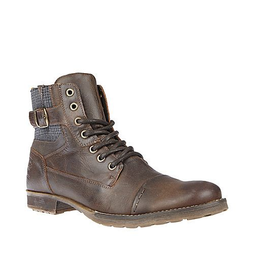 BOXCAR BROWN LEATHER men's boot casual oxford - Steve Madden