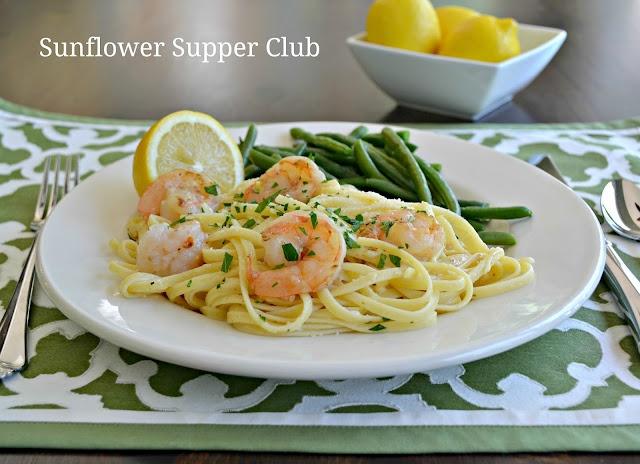 Sunflower Supper Club: Lemon Shrimp with Linguine Pasta