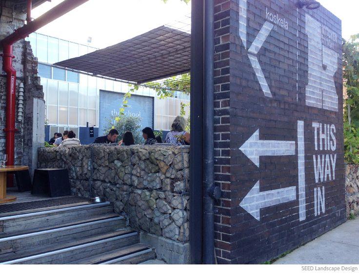 Gabion retaining wall at Koskela in Sydney. More on the SEED Landscape Design blog: http://www.seedlandscapes.com.au/blog/2014/5/14/gabion-walls-in-landscape-design