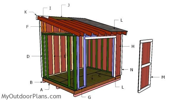 8x10 Lean To Shed Doors Plans Myoutdoorplans Free Woodworking Plans And Projects Diy Shed Wooden Playho Lean To Shed Plans Diy Shed Plans Shed Plans 8x10